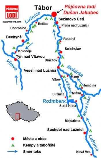 Luznice 2018 mapa
